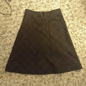 NWOT J. Crew dark brown wool blend a-line skirt